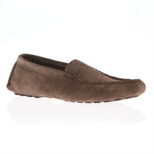 Men footwear: Brown Suede Loafers