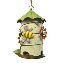 Green Metal Birdhouse