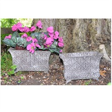 Set of Two Rusty Garden Planter 27/33cm