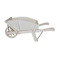 White Antique Wheelbarrow 55cm