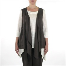 Gilet en lin marron