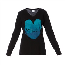 T-shirt Sky Heart noir