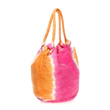 Sac de plage Derwin rose et orange