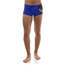 Boxer de bain bleu