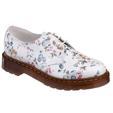 Derbies Print en cuir blanc