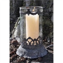 Grey Table Candle Lamp
