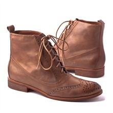 SS Brown Lace-up Boots 3cm Heel