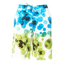 Boardshort blanc et cyan