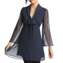 Navy Flared Sleeve Dress