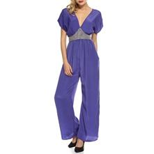 Lavender Embellished Wide Leg Jumpsuit 26