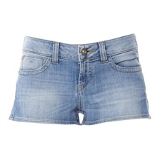 Blue Stonewashed Shorts