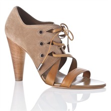 Tan Suede Leather Lace Shoes11cm Heel