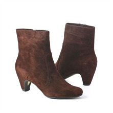 SS Brown Suede Ankle Boots 6cm Heel