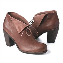 SS Brown Leather Boots 5cm Heel
