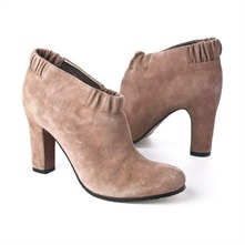SS Putty Suede Elasticated Top Ankle Boots 8cm Heel