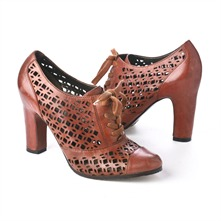 SS Ginger Leather Cut-out Shoes 8cm Heel