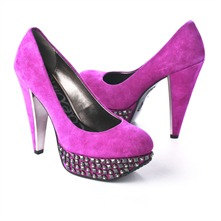 SS Fuchsia Studded Platform Court Shoes 12.5cm Heel