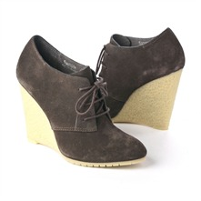 SS Elephant Grey Lace-up Wedge Shoes 12.5cm Heel