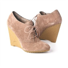SS Putty Lace-up Wedge Shoe Boots 11.5cm Heel