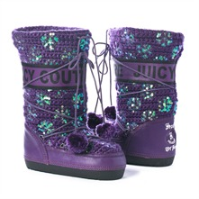 SS Purple Knitted/Sequin Snow Boots