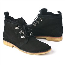 SS Black Canvas Trim Desert Boots