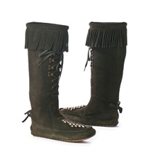 SS Green Suede Fringe Boots