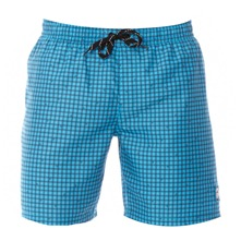 Short de bain Pacu turquoise  carreaux
