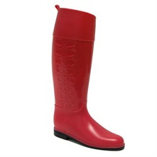 Red Lucky Wellington Boots 3cm Heel