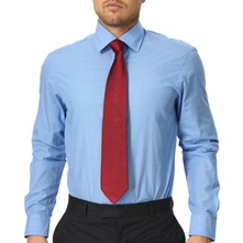 Blue Classic Tailored Cotton Shirt
