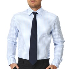 Blue/White Gingham Cotton Shirt