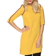 Yellow 3/4 Sleeve Shift Dress