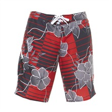 Boardshort Tarabel gris, rouge et noir