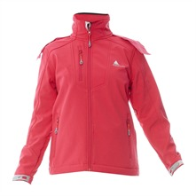 Veste softshell rose fluo