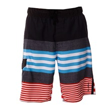 Boardshort Reverse noir et rouge