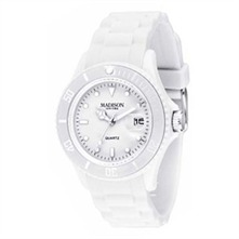 Montre Madison bracelet silicone blanc