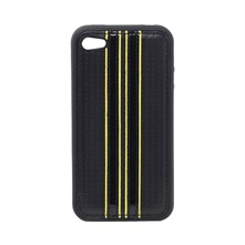 Coque bi-matires noire et jaune iPhone 4