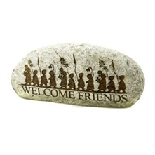 Beige Welcome Friends Stone
