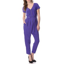 Purple Zip Front Jumpsuit 25