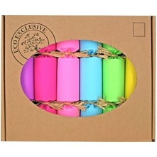 Set of Six Multicolour Eco Rainbow Crackers