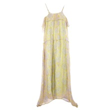 Robe longue Bora en soie pastel