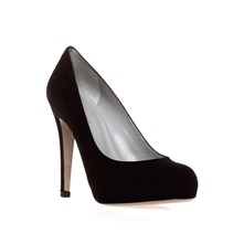 Black Suede Court Shoes 11cm Heel