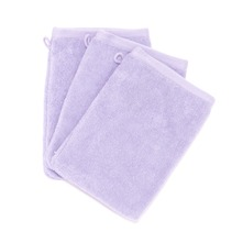 Saint Tropez - Lot 3  gants de toilette - violets