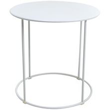 White Eclipse Metal Table