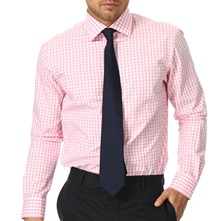 Pink/White Gingham Cotton Shirt
