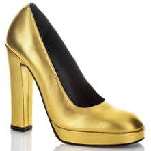 Gold Court Shoes 13cm Heel