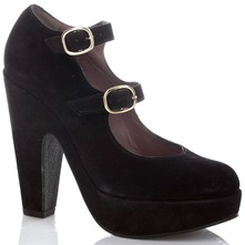 Black Robert Regal Suede Platform Shoes 12cm Heel