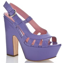 Lilac Felixstowe Leather Sandals 15cm Heel