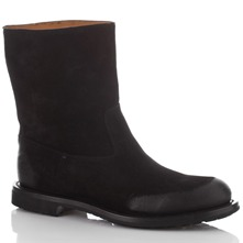 Men footwear: Black Suede Boots