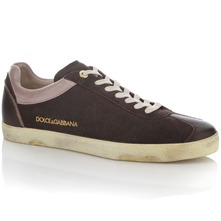Men footwear: Brown Suede Trainers
