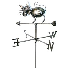 Silver Cat Weathervane